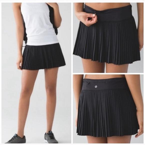 Lululemon Pleat To Street Tennis Skirt Skort 6
